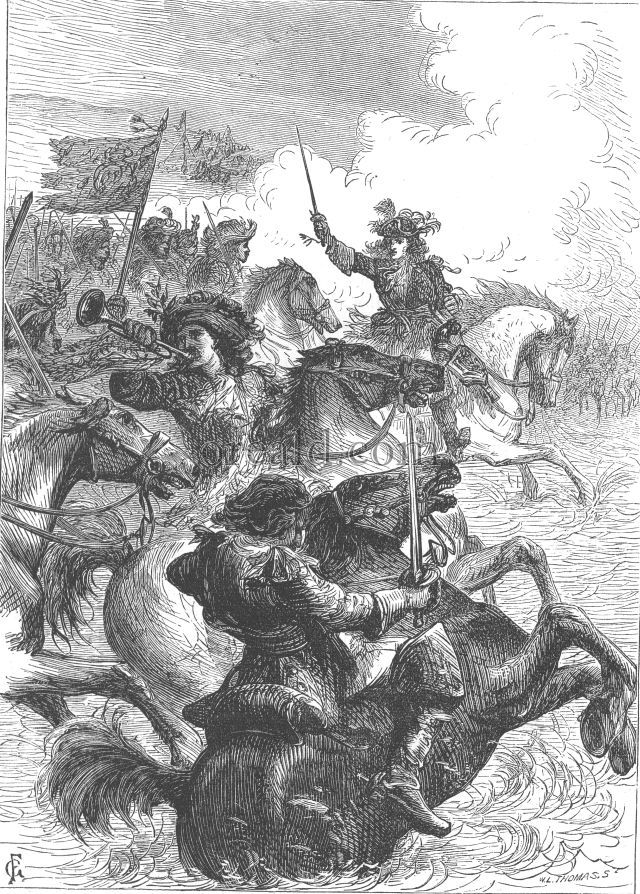 William III. at the Battle of the Boyne