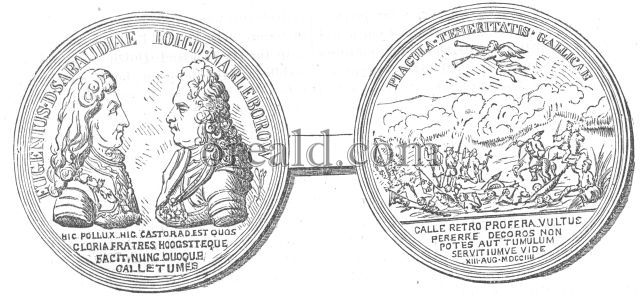 Medal in honour of Marlborough and Eugene