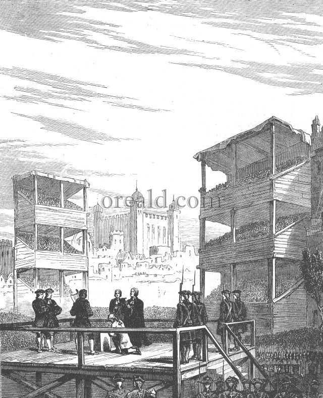 Execution of Lord Derwentwater on Tower Hill