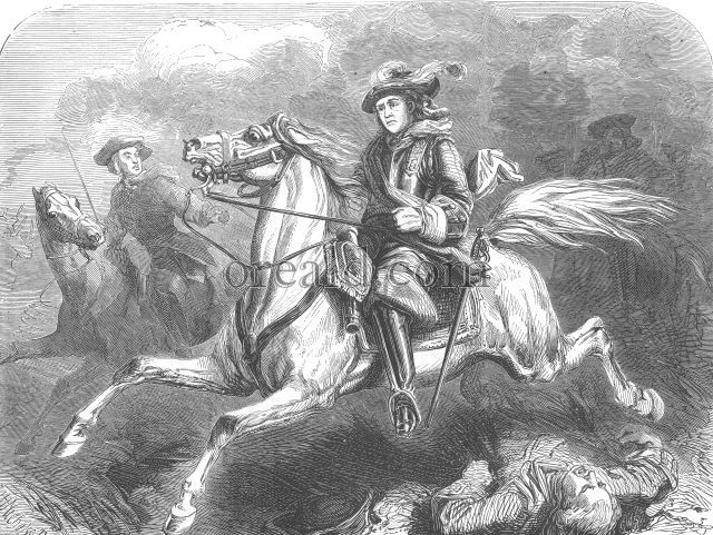 George II. at the battle of Dettingen