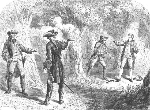 Duel between Wilkes and Martin