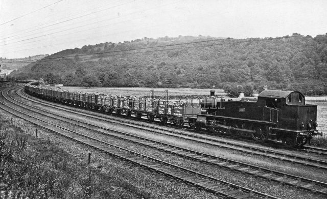 A 100-wagon coal train