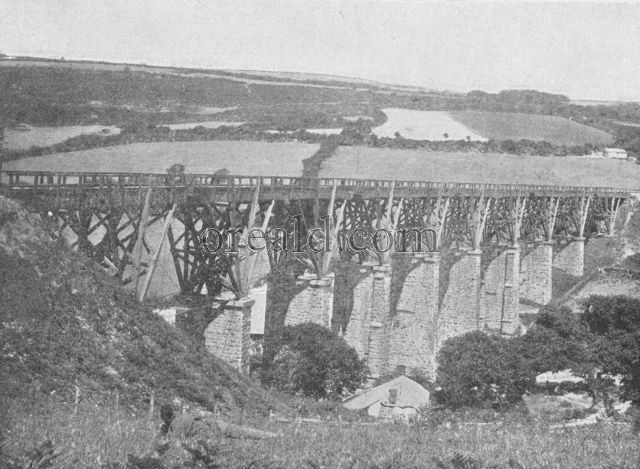One of Brunei's famous Trestle Bridges in Cornwall, now being replaced by . . .