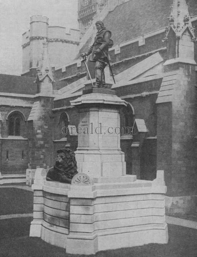 THORNYCROFT STATUE OF OLIVER CROMWELL, THAT STANDS OUTSIDE WESTMINSTER HALL