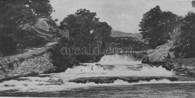 FALLS OF THE MORAR, NEAR THE LOCH THAT WITNESSED THE TAKING OF LORD LOVAT