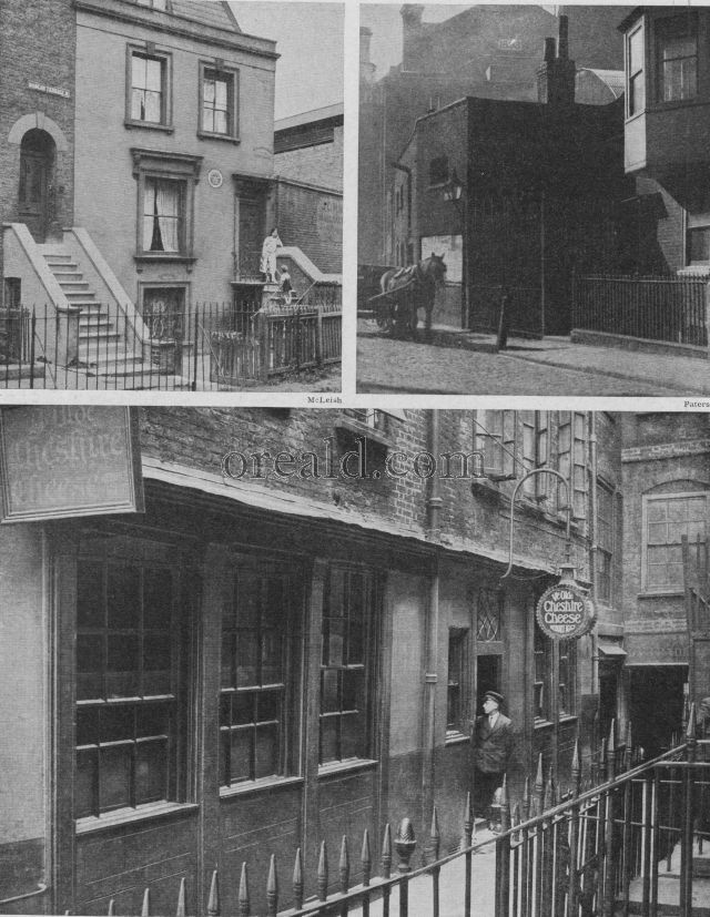 YE OLDE CHESHIRE CHEESE; LAMB'S HOUSE AT ISLINGTON, AND SITE OF OLD GLOBE THEATRE