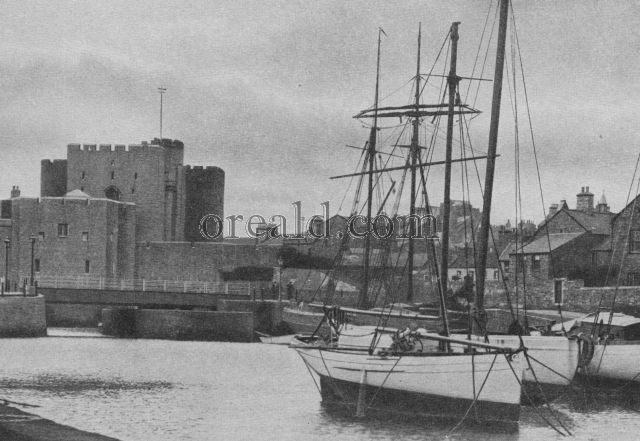 CASTLE RUSHEN, ISLE OF MAN, WHICH THE GHOST OF A GIANT IS SAID TO HAUNT