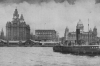 THE MAMMOTH LANDING STAGE AT MERSEYSIDE, TO WHICH COME THE GREAT ATLANTIC LINERS AND LESSER CRAFT