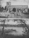 A REED-GIRT POOL IN SUTTON COLDFIELD PARK AND THE CHURCH AT NUNEATON