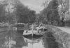 BARGES ON THE RIVER WEY NEAR WHERE IT JOINS THE THAMES AT WEYBRIDGE