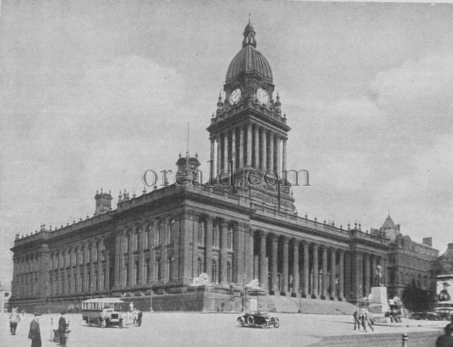 THE CLASSICAL TOWN HALL AT LEEDS, BUILT IN VICTORIAN TIMES