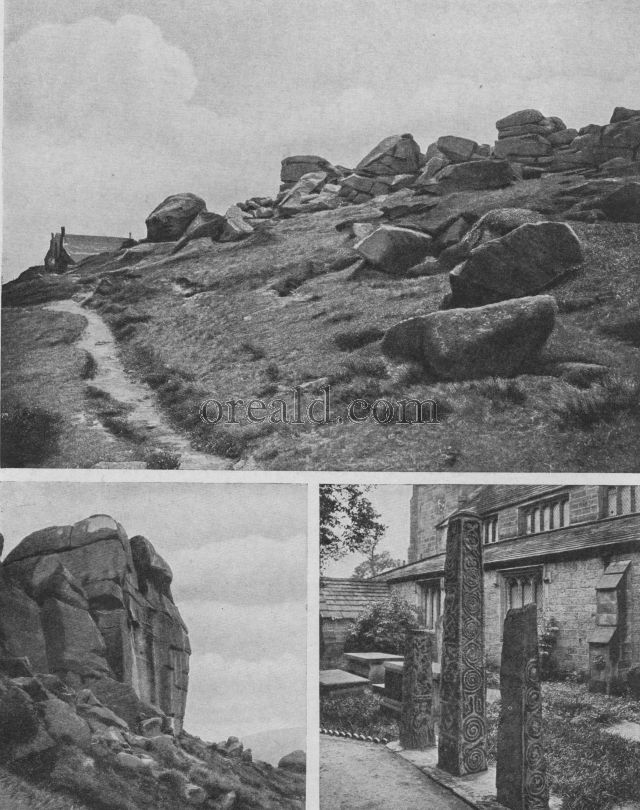 FAMOUS CRAGS AT ILKLEY AND OTLEY, AND ILKLEY'S SAXON CROSSES
