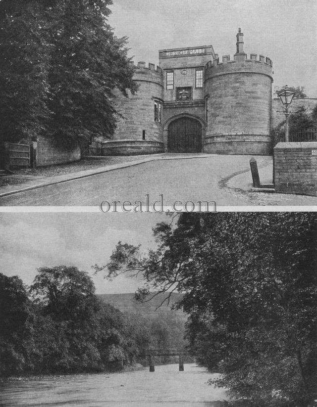 THE WOODS OF BOLTON, AND THE GATEWAY OF SKIPTON'S HISTORIC CASTLE