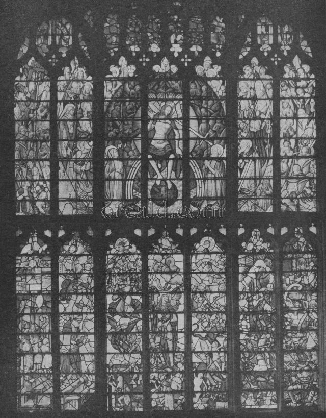 THE LATE GOTHIC CHANCEL WINDOW IN FAIRFORD CHURCH, GLOUCESTERSHIRE