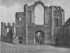 THE WEST FRONT OF THE CLUNIAC PRIORY AT CASTLE ACRE, NORFOLK