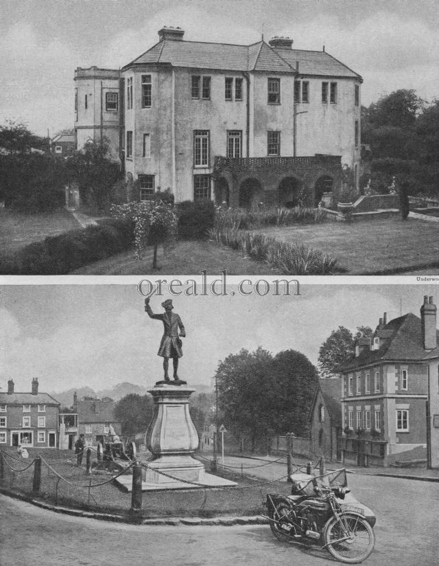THE WOLFE STATUE, WESTERHAM, AND PITT HOUSE, HAMPSTEAD