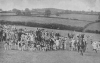 CROWDS COME OUT TO WATCH A MEET OF THE DEVON AND SOMERSET STAGHOUNDS