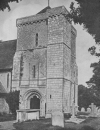 NORMAN TOWER OF THE CHURCH AT CLUMPING IN SUSSEX