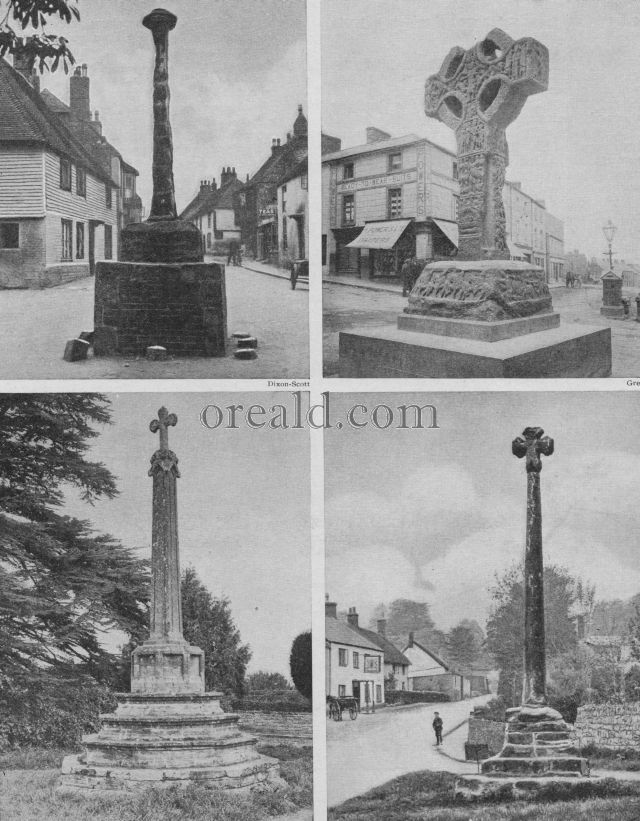 VILLAGE CROSSES OF SOMERSET AND SUSSEX, AND THE GREAT CROSS OF KELLS