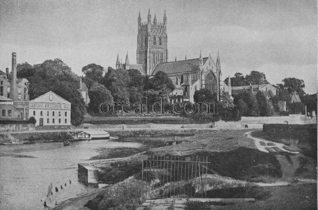 WORCESTER, SEAT OF A BISHOP SINCE THE DAYS OF THE SAXONS