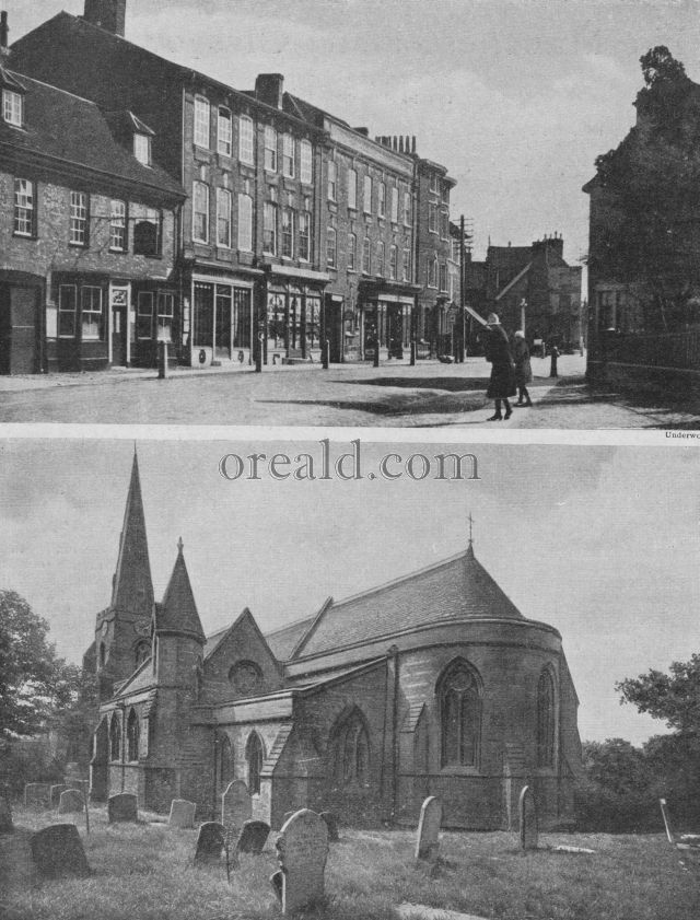 S.SEPULCHRE'S, NORTHAMPTON, AND THE ROAD AS IT PASSES WOBURN