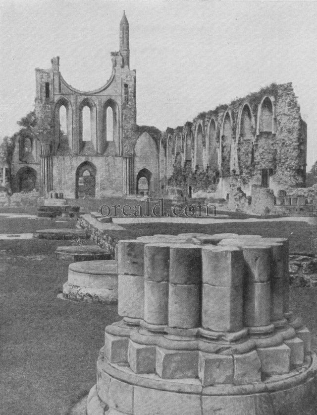 ALL THAT REMAINS OF WHAT WAS BYLAND ABBEY