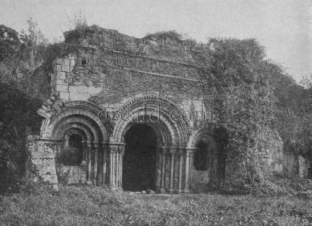 NORMAN ARCHES OF HAUGHMOND'S TWELFTH CENTURY CHAPTER HOUSE