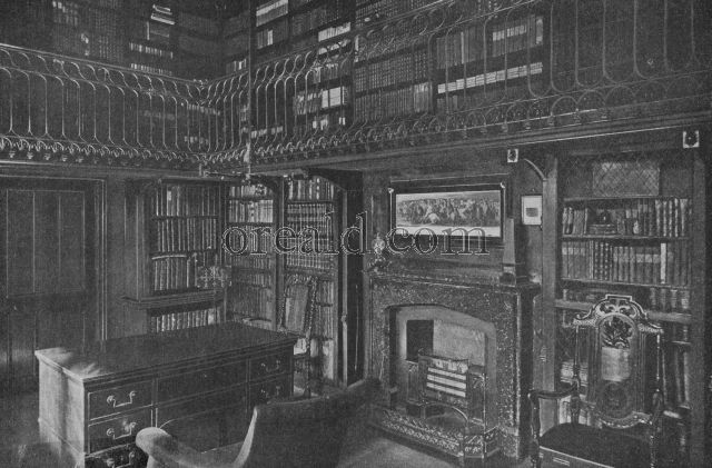 SIR WALTER SCOTT'S STUDY, WHICH REMAINS ALMOST AS HE LEFT IT, IN HIS HOME AT ABBOTSFORD