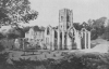 FAIR FOUNTAINS ABBEY RESTS IN WOODLAND PEACE IN THE VALE OF SKELD