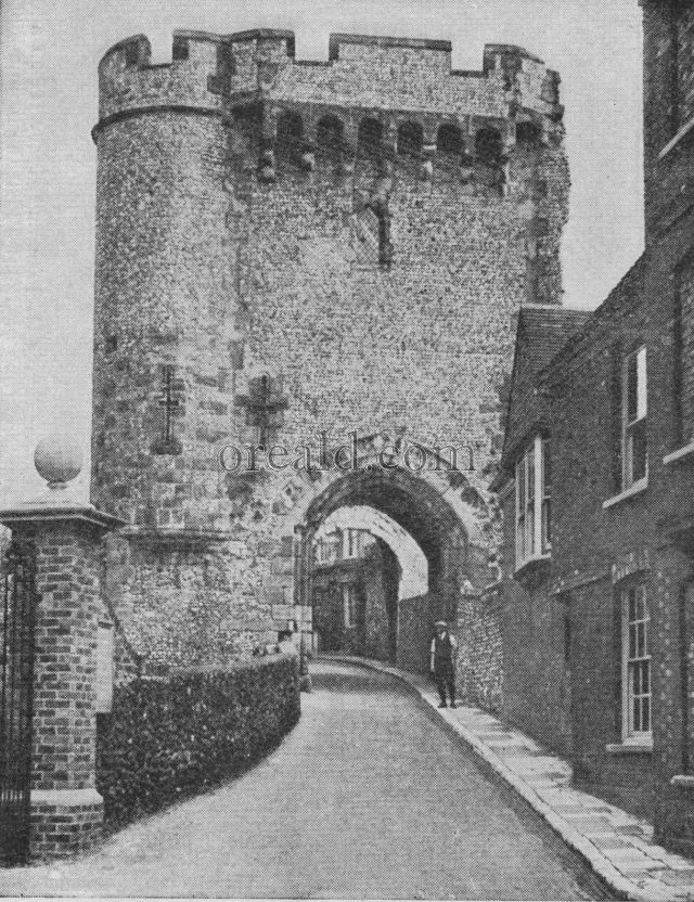 GREY GATEWAY OF LEWES CASTLE
