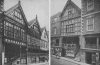 TWO OF CHESTER'S TIMBERED TREASURES ABOVE THE ROWS IN WATERGATE STREET