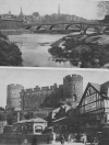 SHREWSBURY CASTLE AND THE 'ENGLISH BRIDGE' INTO THE TOWN