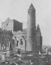 Cashel Cathedral joined to a ninety-foot Round Tower