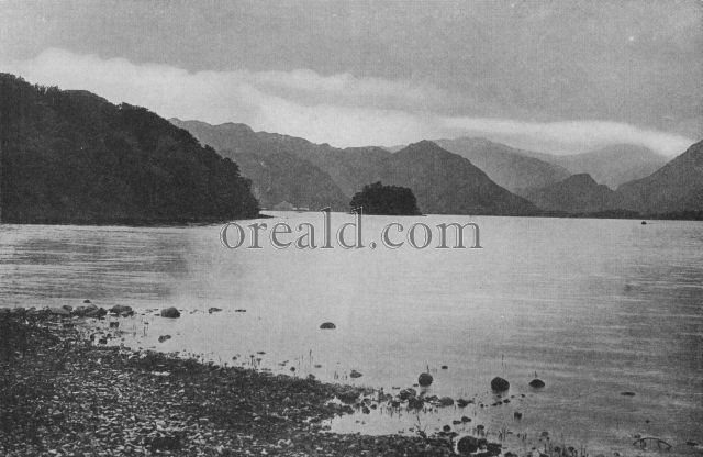 GLORIOUS DERWENTWATER, AND THE ISLE ON WHICH S. HERBERT PASSED HIS SOLITARY LIFE