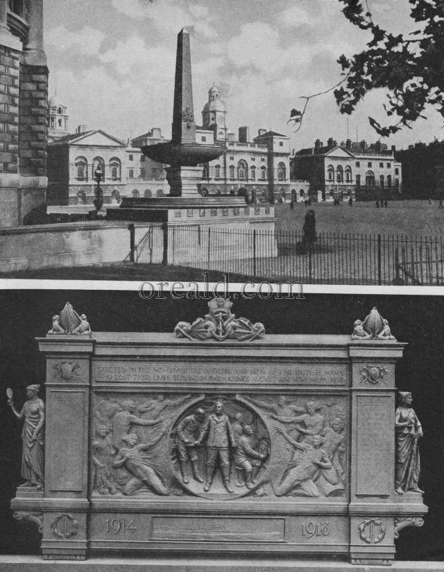 SUBMARINE MEMORIAL TABLET, AND THE FOUNTAIN OF THE ROYAL NAVAL DIVISION