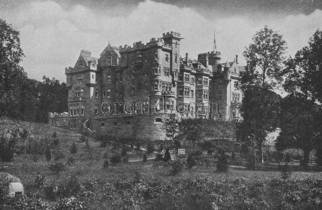 SKIBO CASTLE, AN OLD MANSION WHICH ANDREW CARNEGIE, NATIVE OF DUNFERMLINE, RENEWED FOR HIMSELF