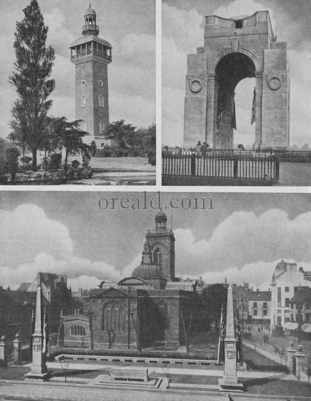 NORTHAMPTON'S MEMORIAL: THE ARCH AT LEICESTER, AND LOUGHBOROUGH'S CARILLON TOWER