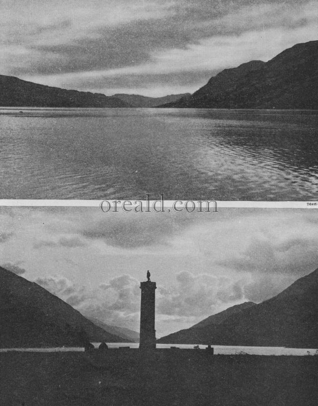 GLENFINNAN, WHERE THE STANDARD WAS RAISED, AND LOCH DUICH, A PLACE OF EXILE
