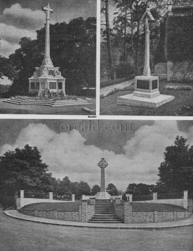 THE CROSSES AT EPSOM AND SUTTON, AND THE PRINTERS' MEMORIAL AT LIMPSFIELD