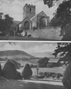 LLANSAINTFFRAED CHURCHYARD. AND THE PRIORY CHURCH OF S. MARY, ABERGAVENNY