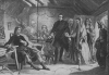 THE FIRST MEETING OF PRINCE CHARLIE AND FLORA MACDONALD OF UIST