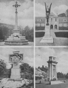 CROSS, CENOTAPH AND SCULPTURE: SALTBURN, SWINDON, CHESTERFIELD AND GREAT MALVERN