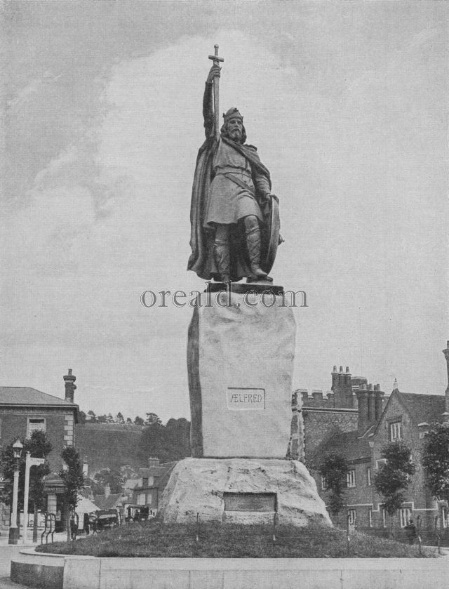 Statue of King Alfred at his Capital and Home