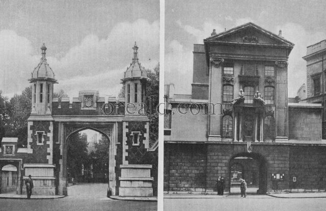 Entrance to Lincolns Inn and the Gateway to S. Bartholomews hospital
