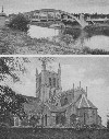 Pershore Abbey Church and Evesham new Bridge