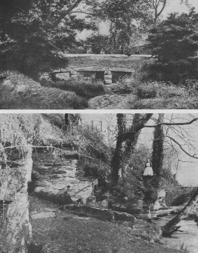 King Arthur's Tomb and Slaughter bridge at Camelford