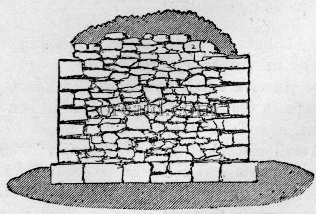 Section of the Roman Wall.