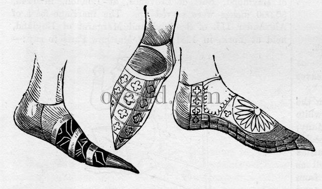 Shoes of the Time of Edward II