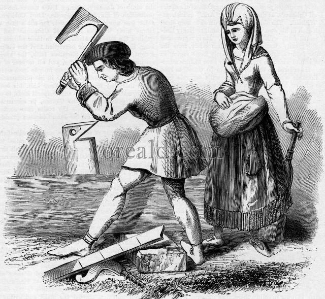 French Carpenter and Maid-Servant