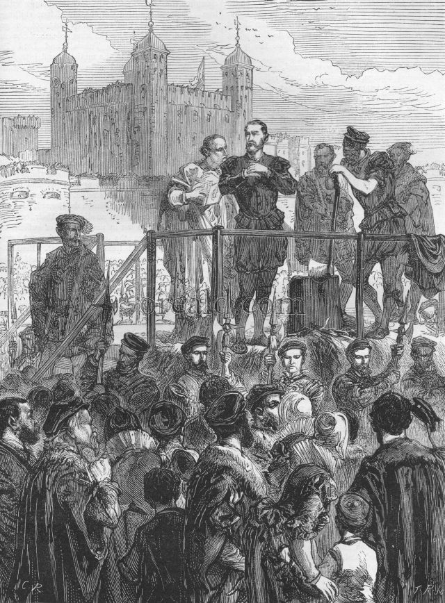 Execution of the Duke of Northumberland on Tower Hill.